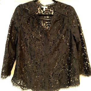 Joie lace top in Caviar